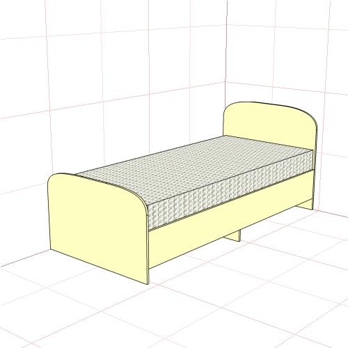Кровать односпальная (850 мм)