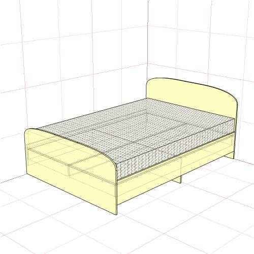 Кровать полуторная 1450 мм