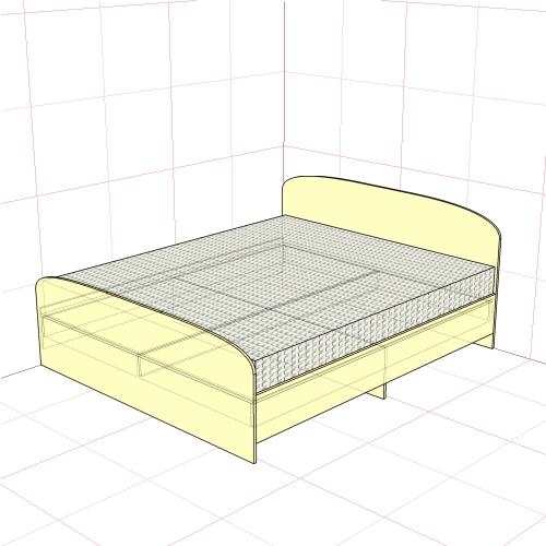 Кровать двуспальная 1750 мм