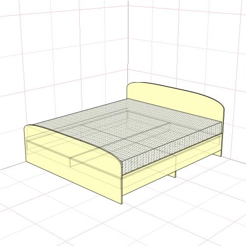 Кровать двуспальная 1850 мм