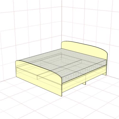 Кровать двуспальная 1950 мм