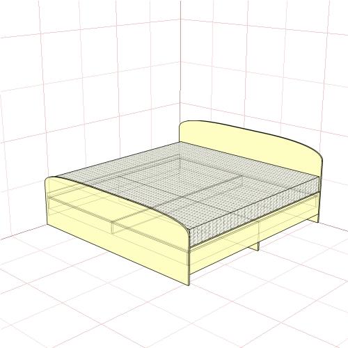 Кровать двуспальная 2050 мм