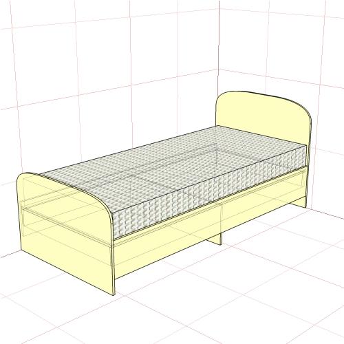 Кровать односпальная 950 мм