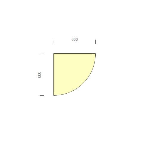 Стол рабочий угловой (РСУ-2) 600 мм