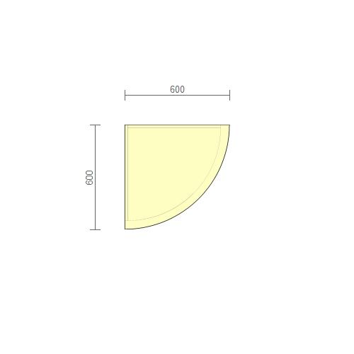 Стол рабочий угловой (РСУ-2.1) 600 мм