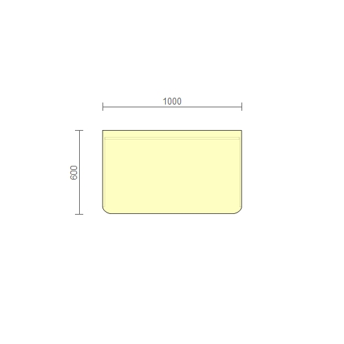 Стол рабочий – (РС) 1000 мм