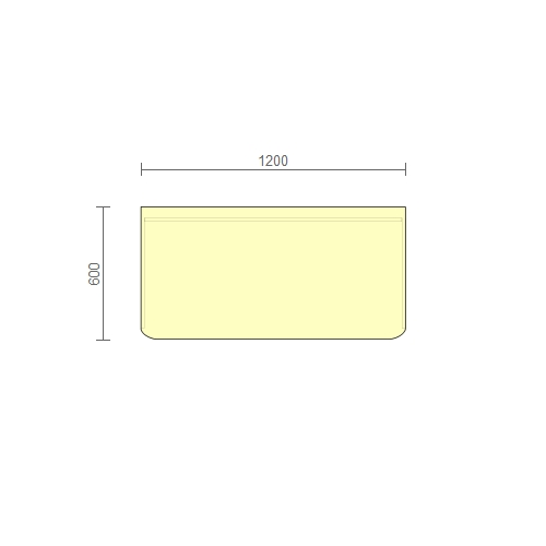 Стол рабочий – (РС) 1200 мм