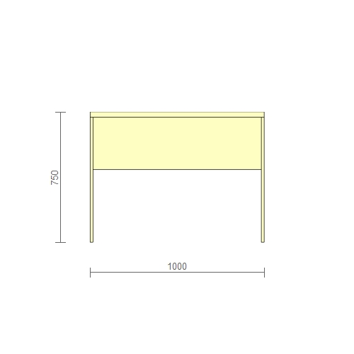 Стол рабочий – (РС-2) 1000 мм