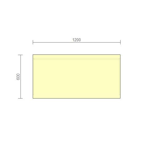 Стол рабочий – (РС-2) 1200 мм