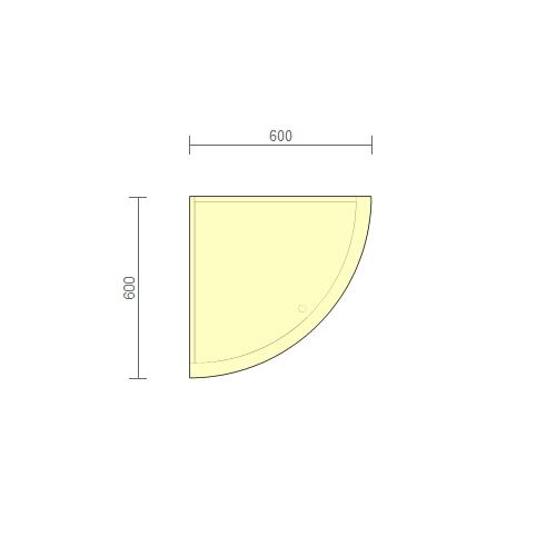Стол рабочий угловой (РСУ-2.2) 600 мм