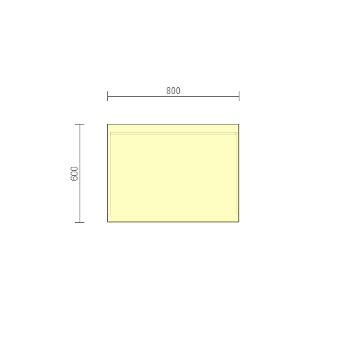 Стол рабочий –  (РС-2) 800 мм
