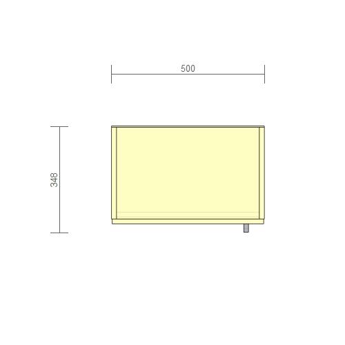 Стеллаж 500 мм + дверь