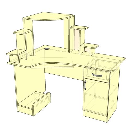 Стол компьютерный угловой (тип-1)
