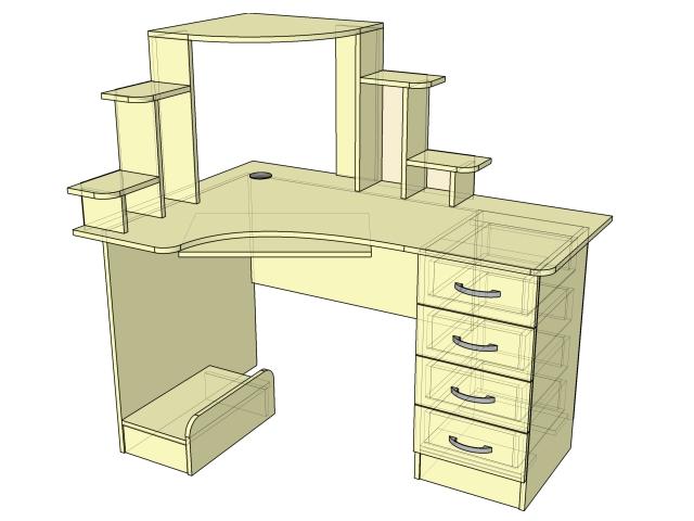 Стол компьютерный угловой (тип-2)