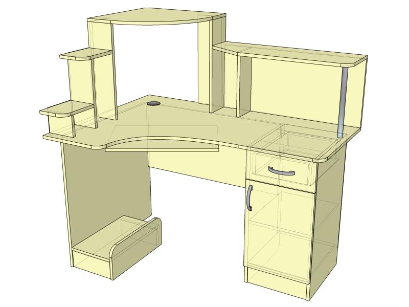 Стол компьютерный угловой (тип-3)